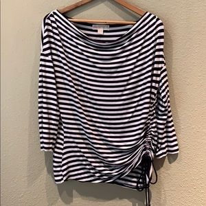 Black and white Striped Michael Kors Top